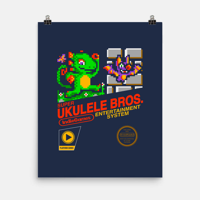 Ukulele Bros-none matte poster-The Grilled Bacon