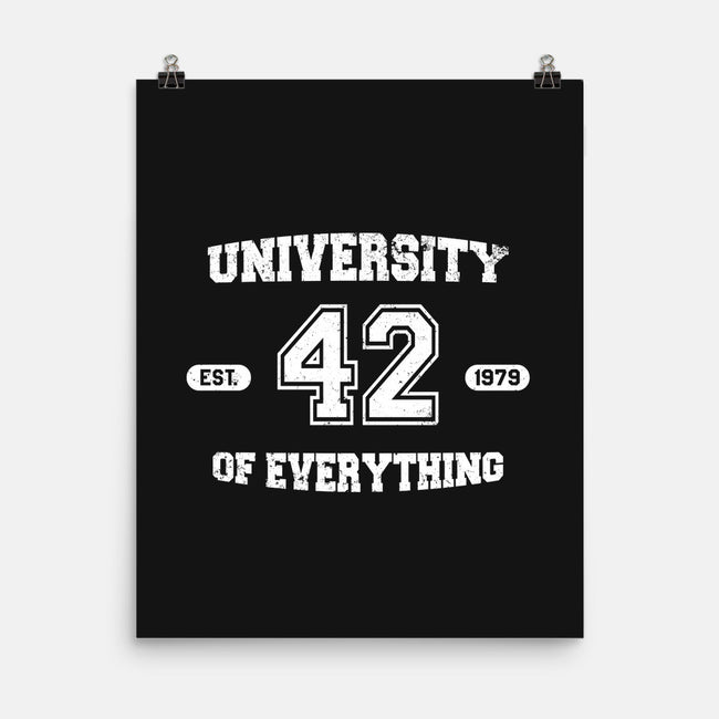 University of Everything-none matte poster-SergioDoe