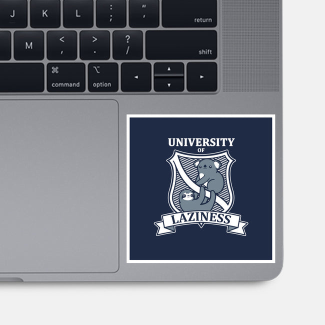 University of Laziness-none glossy sticker-NemiMakeit