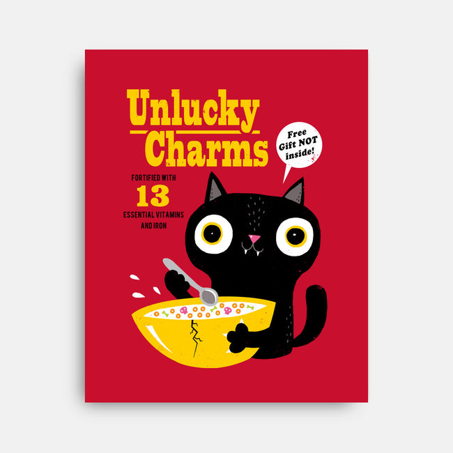 Unlucky Charms-none stretched canvas-DinoMike