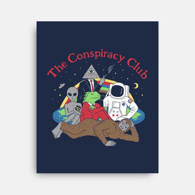 The Conspiracy Club-none stretched canvas-Gamma-Ray