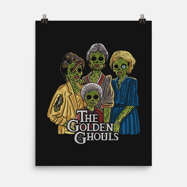 The Golden Ghouls-none matte poster-ibyes_illustration