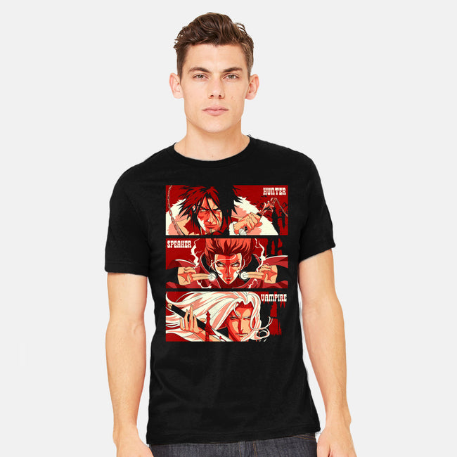 The Hunter, The Speaker, and the Vampire-mens heavyweight tee-zerobriant