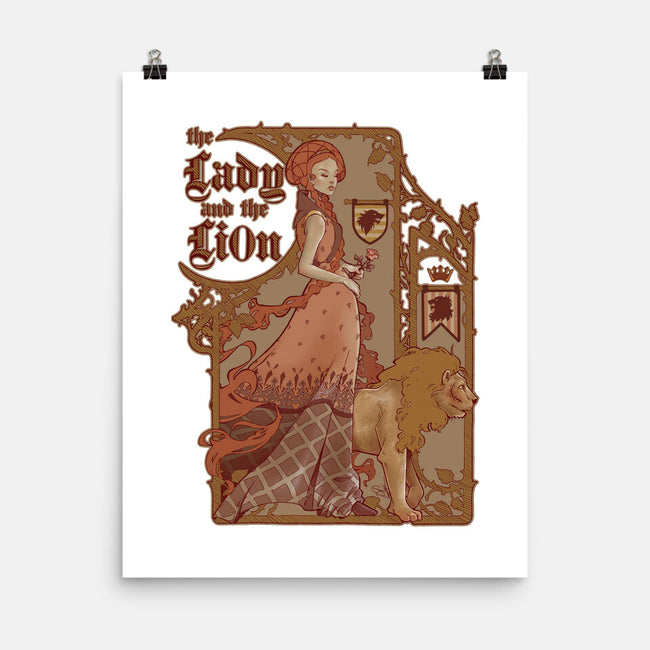 The Lady and The Lion-none matte poster-Anaïs Gálvez