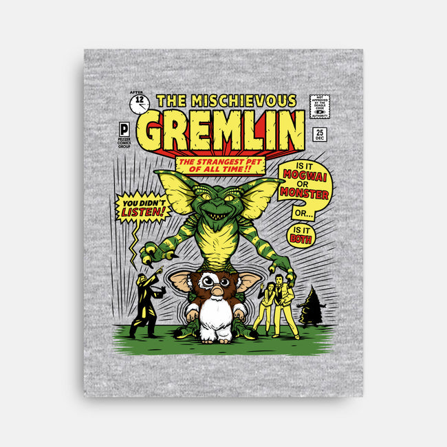 The Mischievous Gremlin-none stretched canvas-mikehandyart