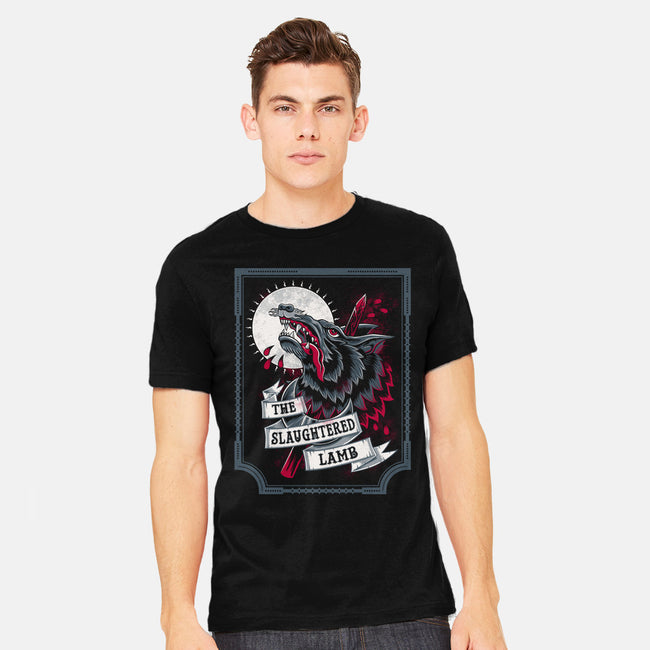 The Slaughtered Lamb-mens heavyweight tee-Nemons
