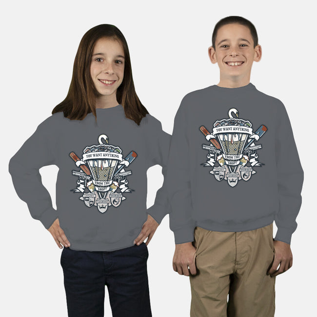 Three Flavours Crest-youth crew neck sweatshirt-Arinesart