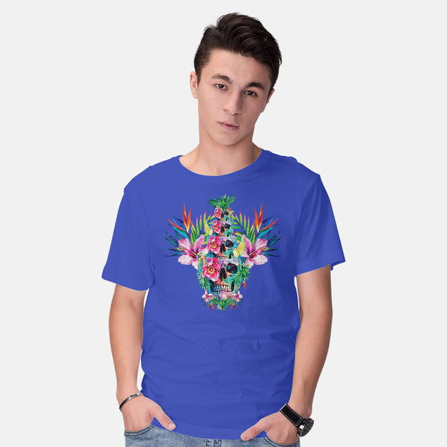 Tiki Tower-mens basic tee-RizaPeker