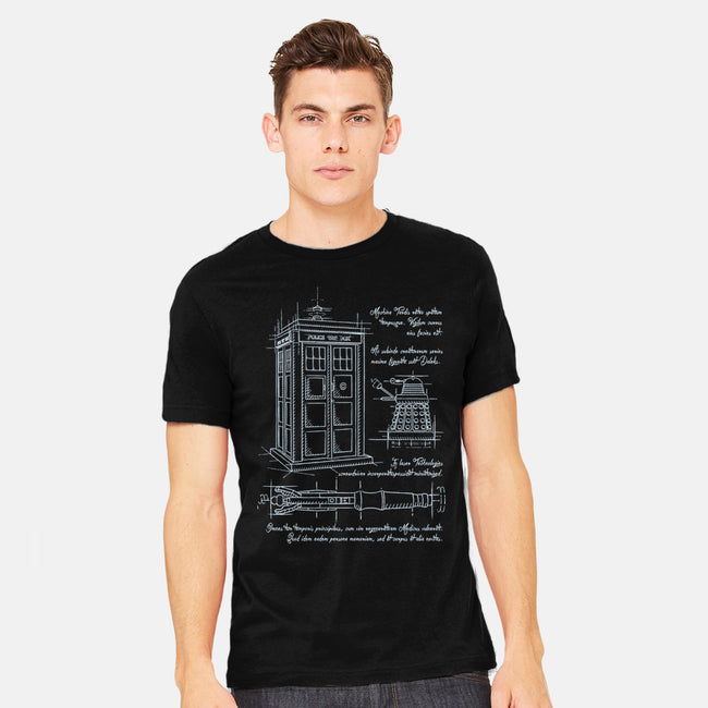 Time Travel Schematic-mens heavyweight tee-ducfrench