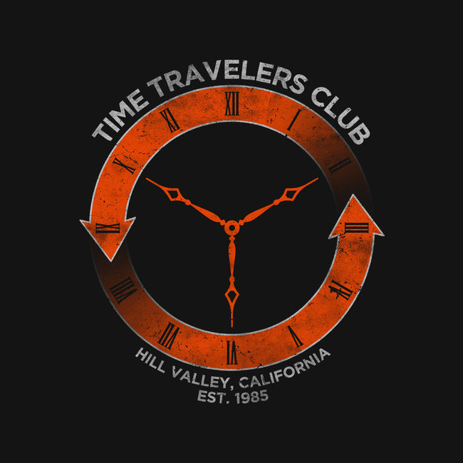 Time Travelers Club-Hill Valley-none glossy sticker-alecxpstees