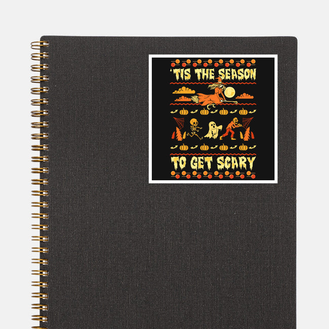 Tis The Season to Get Scary-none glossy sticker-neverbluetshirts