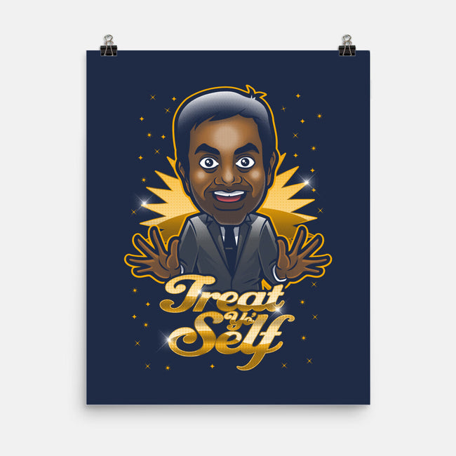 Treat Yo Self-none matte poster-Bamboota