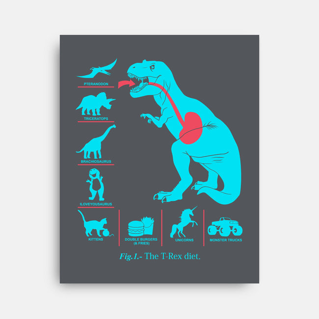 T-Rex Diet-none stretched canvas-Graja