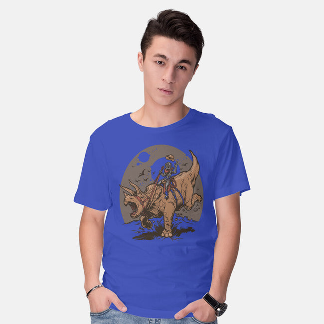 Triceratops CowBot-mens basic tee-Captain Ribman