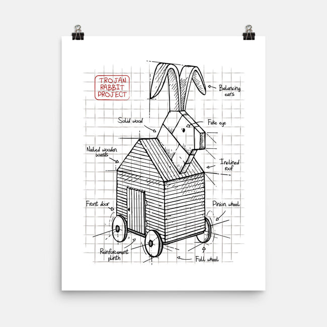 Trojan Rabbit Project-none matte poster-ducfrench