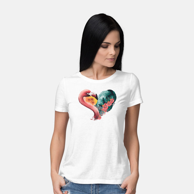 Tropical Love-womens basic tee-dandingeroz