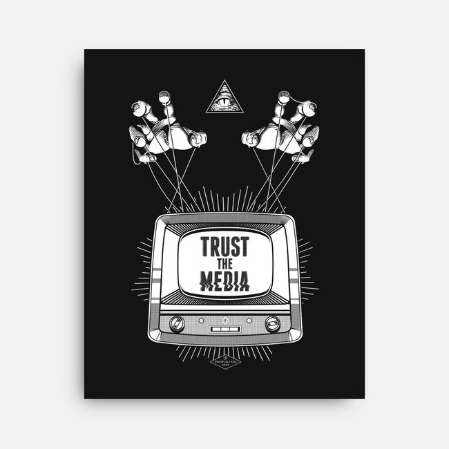 Trust the Media-none stretched canvas-department