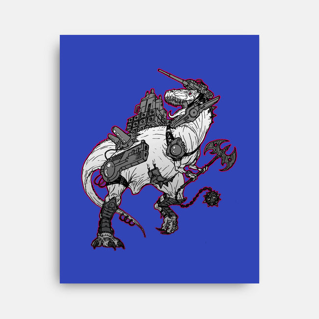 TyrannoZaurus-none stretched canvas-GuitarAtomik