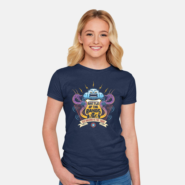 Sex Bob-Omb VS The Twins-womens fitted tee-Bamboota