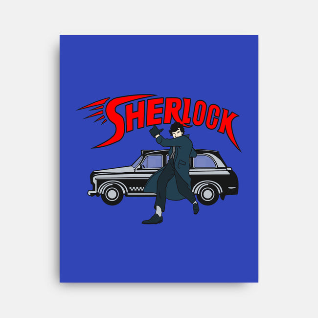 Sherlock Racer-none stretched canvas-JBaz