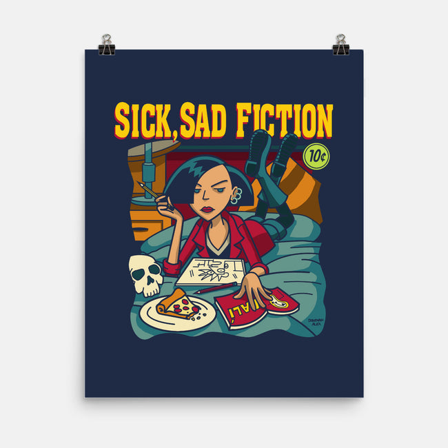 Sick Sad Fiction-none matte poster-DonovanAlex