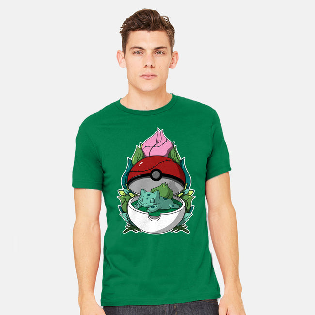 Sleepy Grass Type-mens heavyweight tee-Adelaidelia