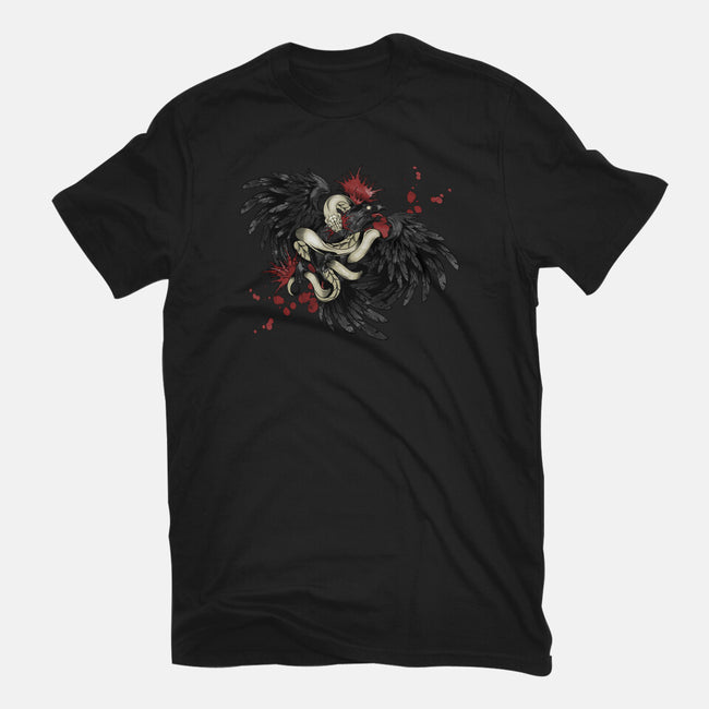 Snake and Raven-womens basic tee-Arson