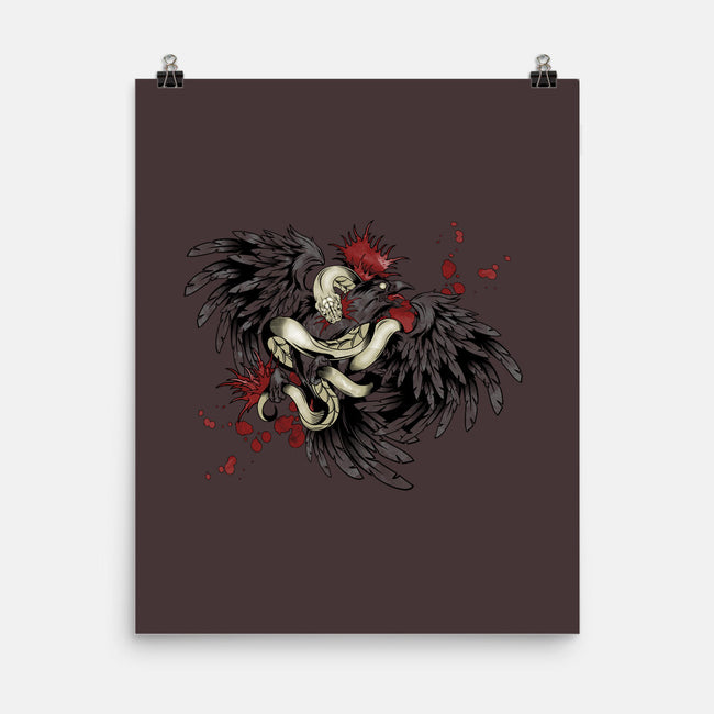 Snake and Raven-none matte poster-Arson
