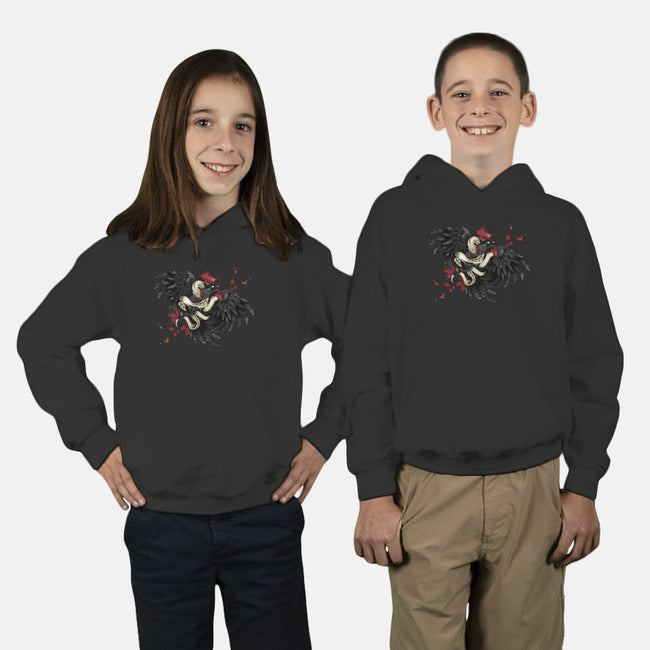 Snake and Raven-youth pullover sweatshirt-Arson
