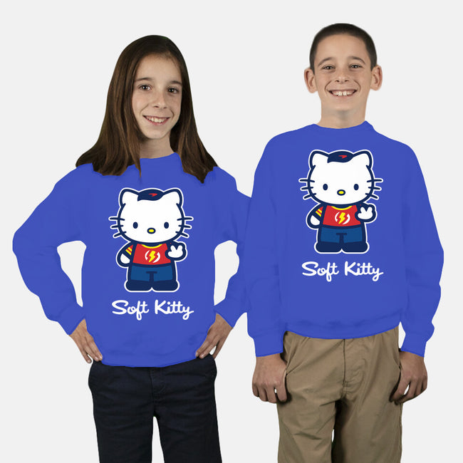 Soft Kitty-youth crew neck sweatshirt-WinterArtwork