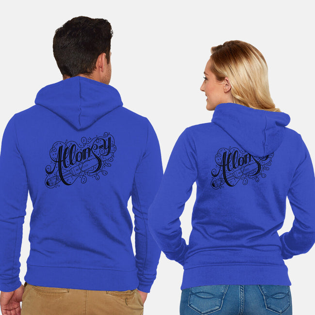 Sonic Allons-y-unisex zip-up sweatshirt-tillieke