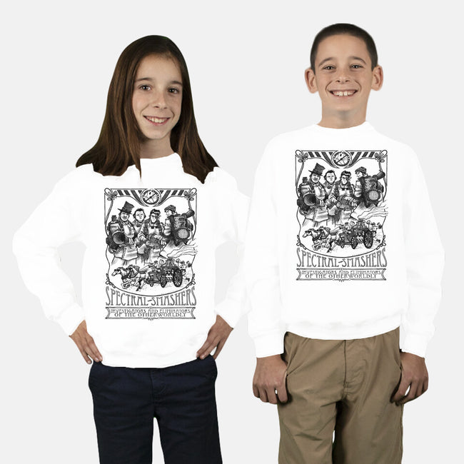 Spectral Smashers-youth crew neck sweatshirt-comicbookjer