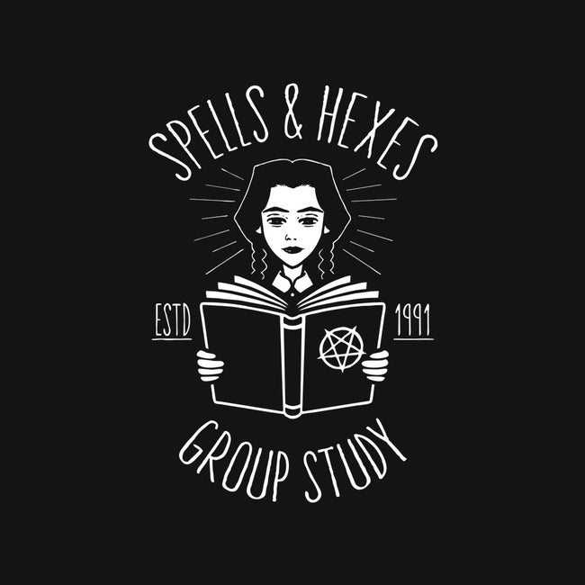 Spells & Hexes Group Study-mens heavyweight tee-JBaz