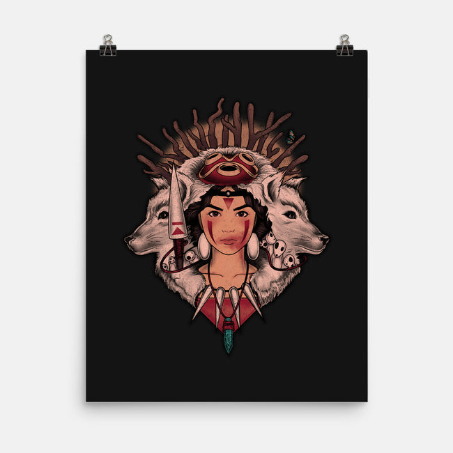 Spirit Princess-none matte poster-MeganLara