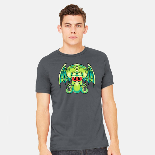 Squidthulhu-mens heavyweight tee-Professor Plaguesworth