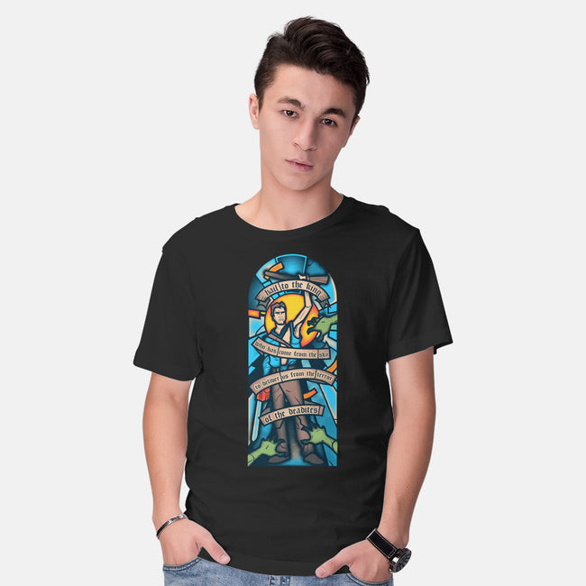 Stained Ash Window-mens basic tee-ZombieDollars