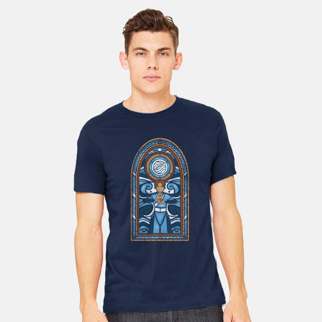 Stained Glass Water-mens heavyweight tee-Fishmas