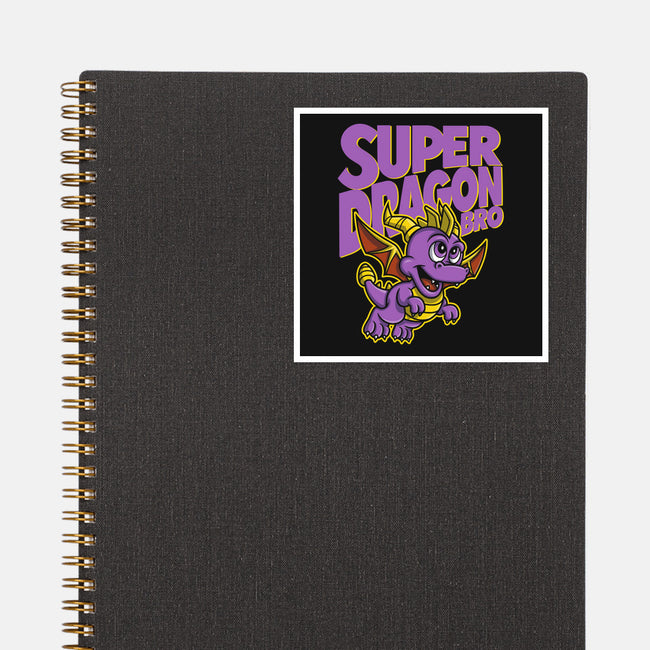 Super Dragon Bro-none glossy sticker-Punksthetic