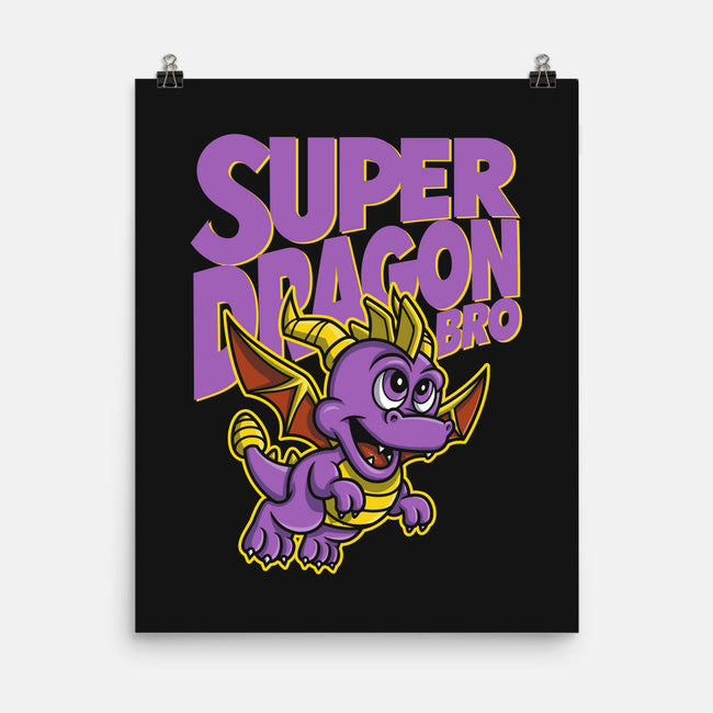Super Dragon Bro-none matte poster-Punksthetic