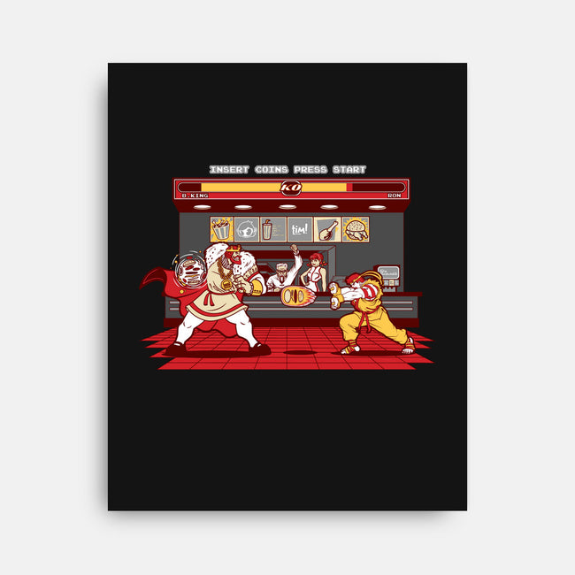 Super Meat Fighter-none stretched canvas-Bamboota