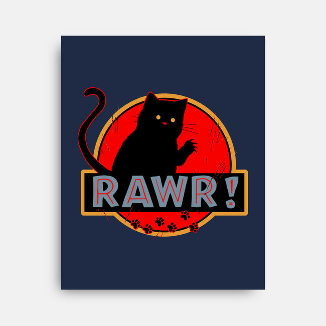 RAWR-none stretched canvas-Crumblin' Cookie