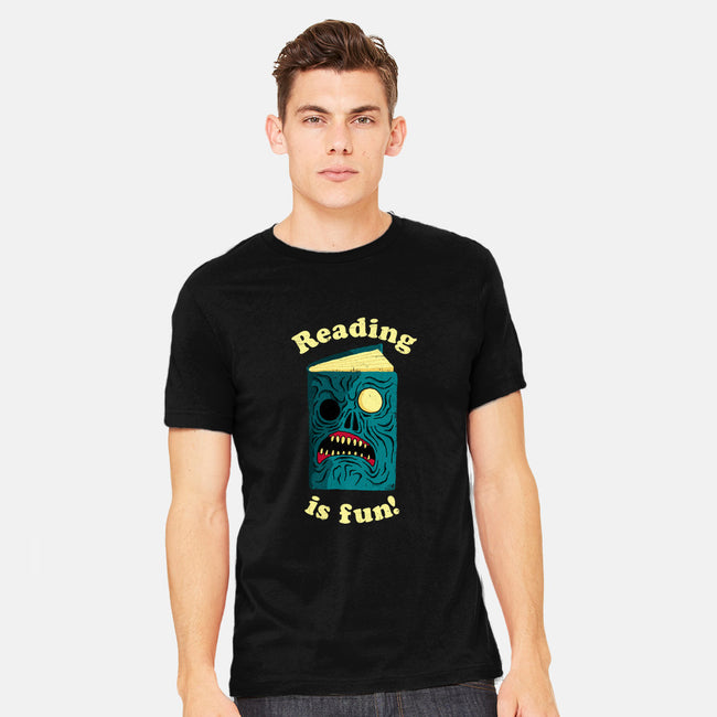 Reading is Fun-mens heavyweight tee-DinoMike