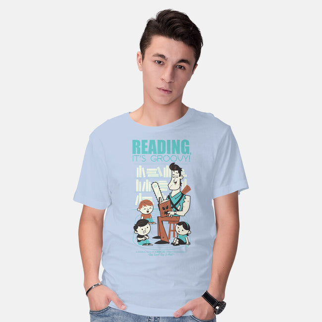 Reading is Groovy-mens basic tee-Dave Perillo