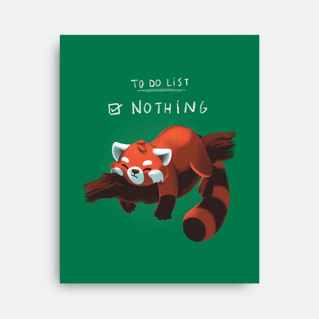 Red Panda Day-none stretched canvas-BlancaVidal