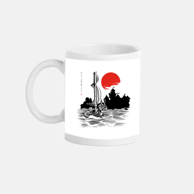 Red Sun Hero-none glossy mug-ddjvigo