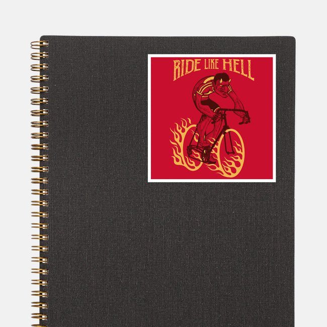 Ride Like Hell-none glossy sticker-spike00