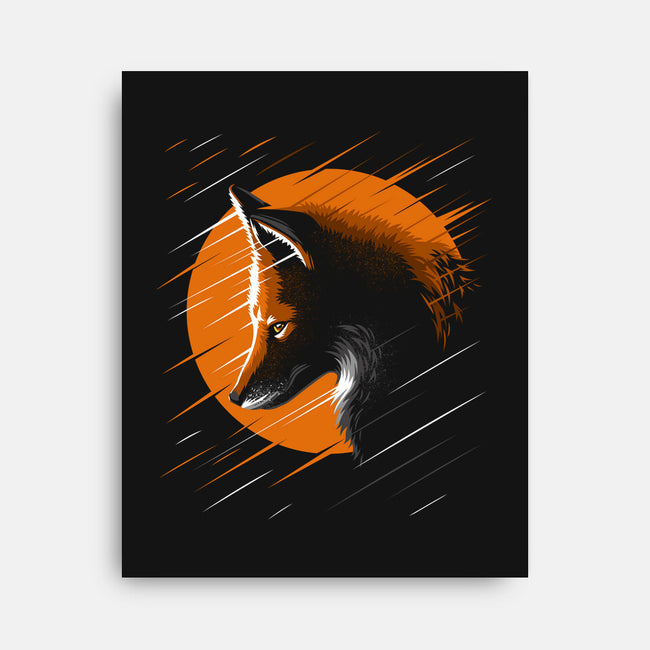 Rising Fox-none stretched canvas-albertocubatas