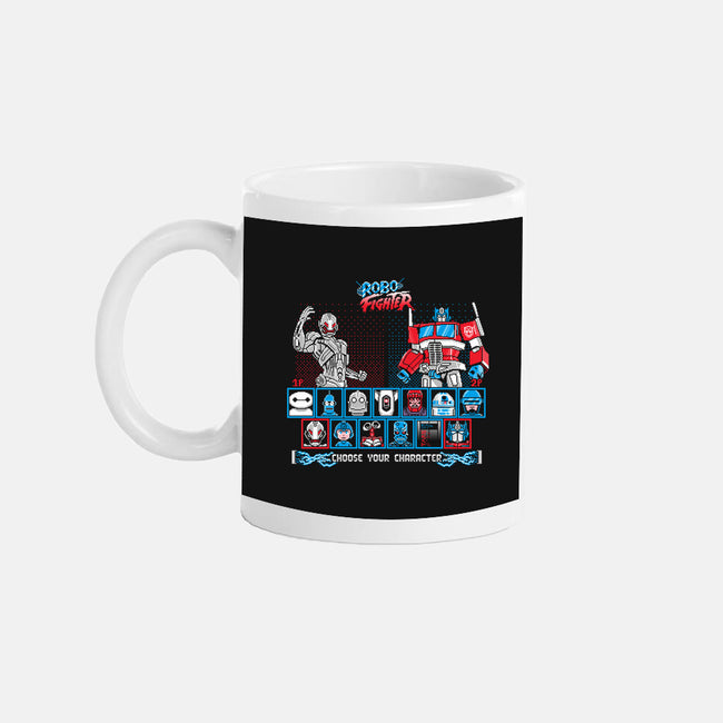 Robo Fighter-none glossy mug-LavaLampTee
