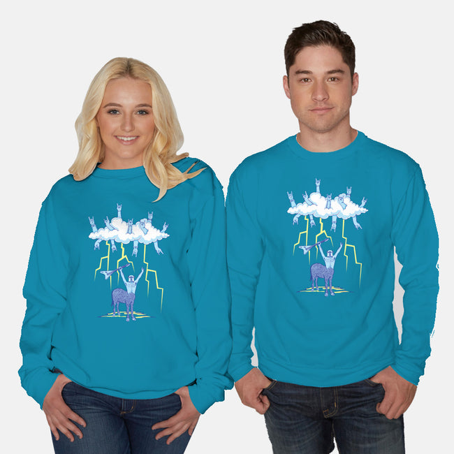 Born of Thunder & Rock-unisex crew neck sweatshirt-jecrt