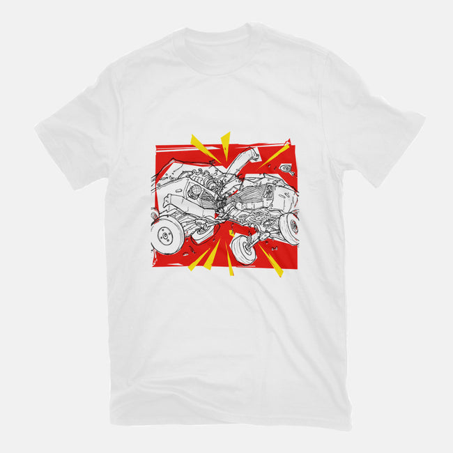 Car Crash-womens fitted tee-Joe Alterio